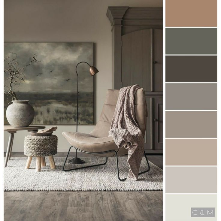 Grey Taupe Paint: Soft Neutral Color Palette. Olive, Grey, Peach, Tan, Taupe