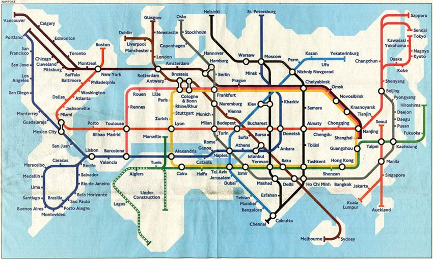 Global tube map created by alan foale posters flags and maps global tube map created by alan foale gumiabroncs Choice Image