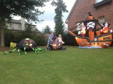 thieves strike in vestavia hills stealing halloween inflatables from liberty park yards