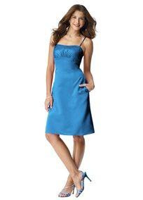 5da1a053a ... classy look for bridesmaids. David's Bridal Blue Style F14025 Cornflower  Dress $80 Size 4