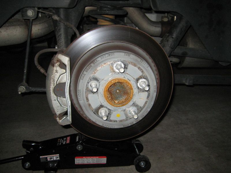 Dodge Ram 1500 Rear Brake Caliper Rotor Bracket Replacing Pads