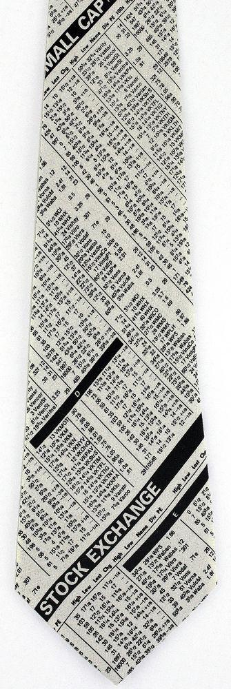 New Stock Market Exchange Mens Necktie Money Stockbroker Wall Street Neck Tie #Deborah #NeckTie