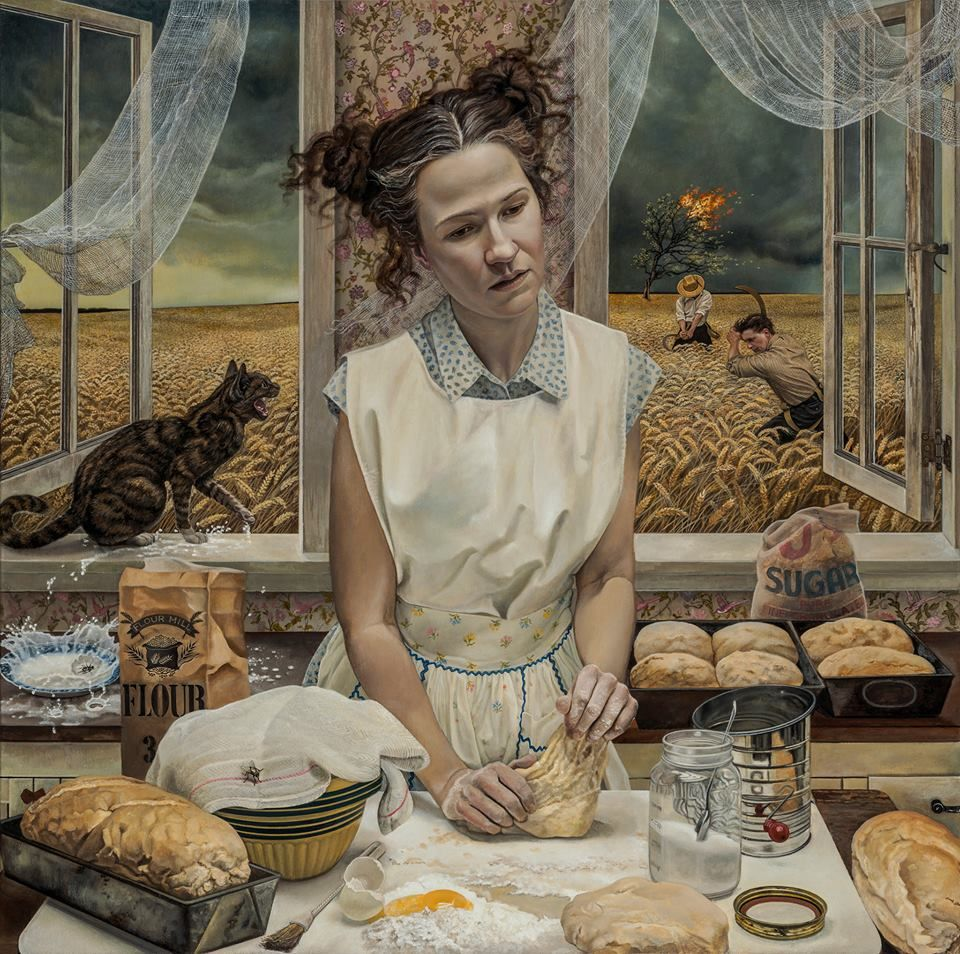 For Sale on - In the Distance Limited Edition of 10 Hand Signed Print, Archival Paper, Archival Pigment Print by Andrea Kowch. Offered by RJD Gallery.