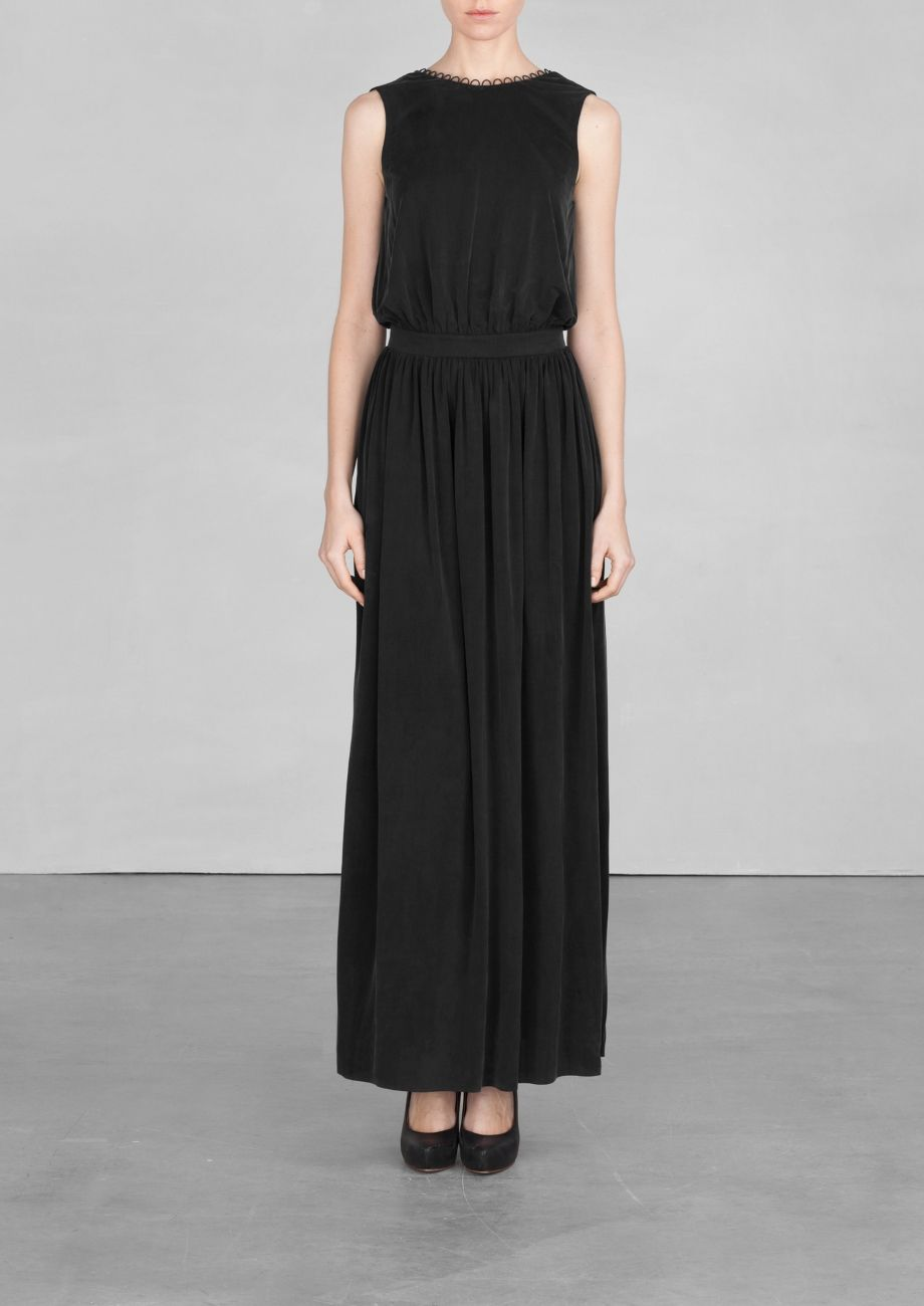 Other Stories Cupro Maxi Dress Black Maxi Dress Wide Leg Jumpsuit Haute Hippie
