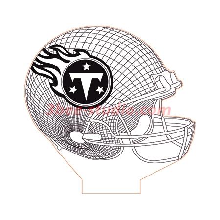 Tennessee Titans NFL helmet 3d illusion lamp plan vector file
