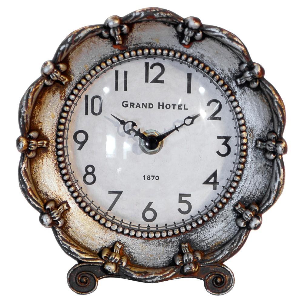 Decorative table clock silver vip home garden