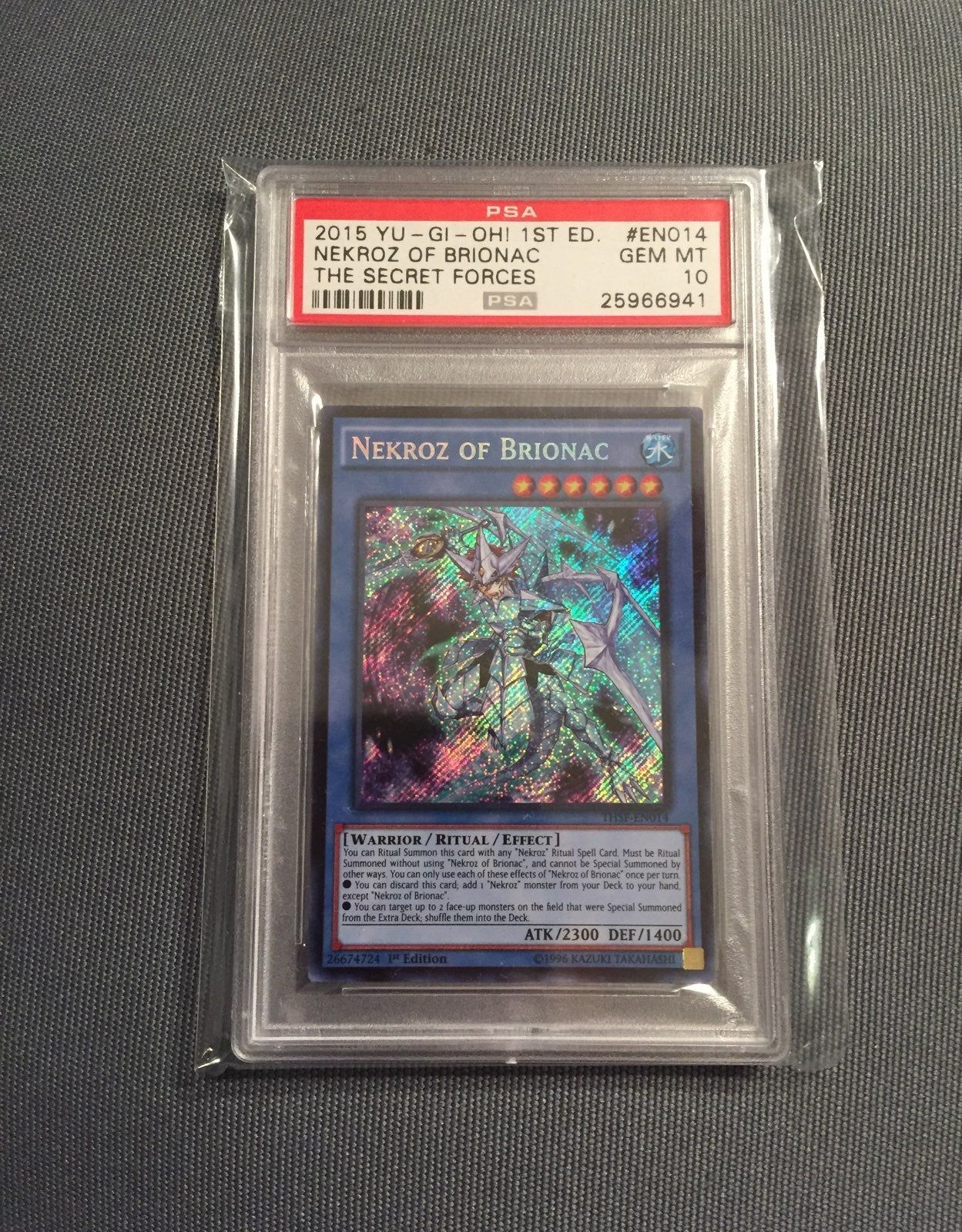 This Is A Listing For A Psa Grade 10 Gem Mint Nekroz Of Brionac