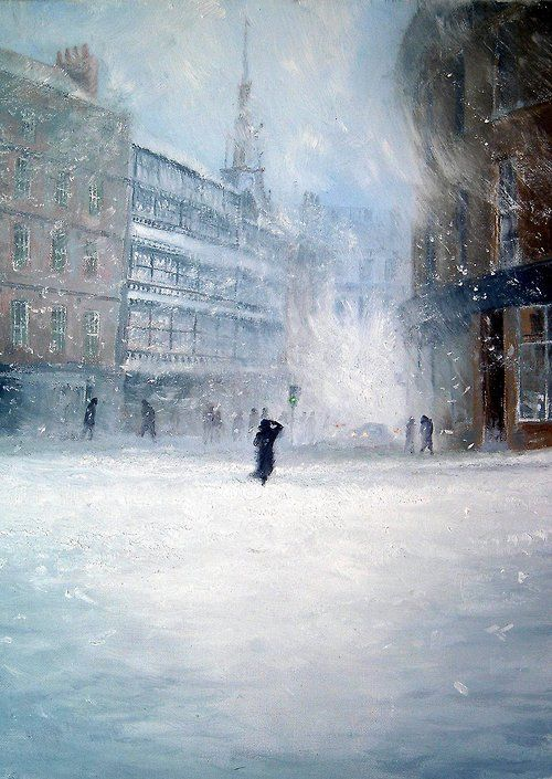 "dawnawakened: Jeff Rowland, Snow covers Sandgate (2012) ""I have always been fascinated in two areas of art; the implicit meaning and the i..."