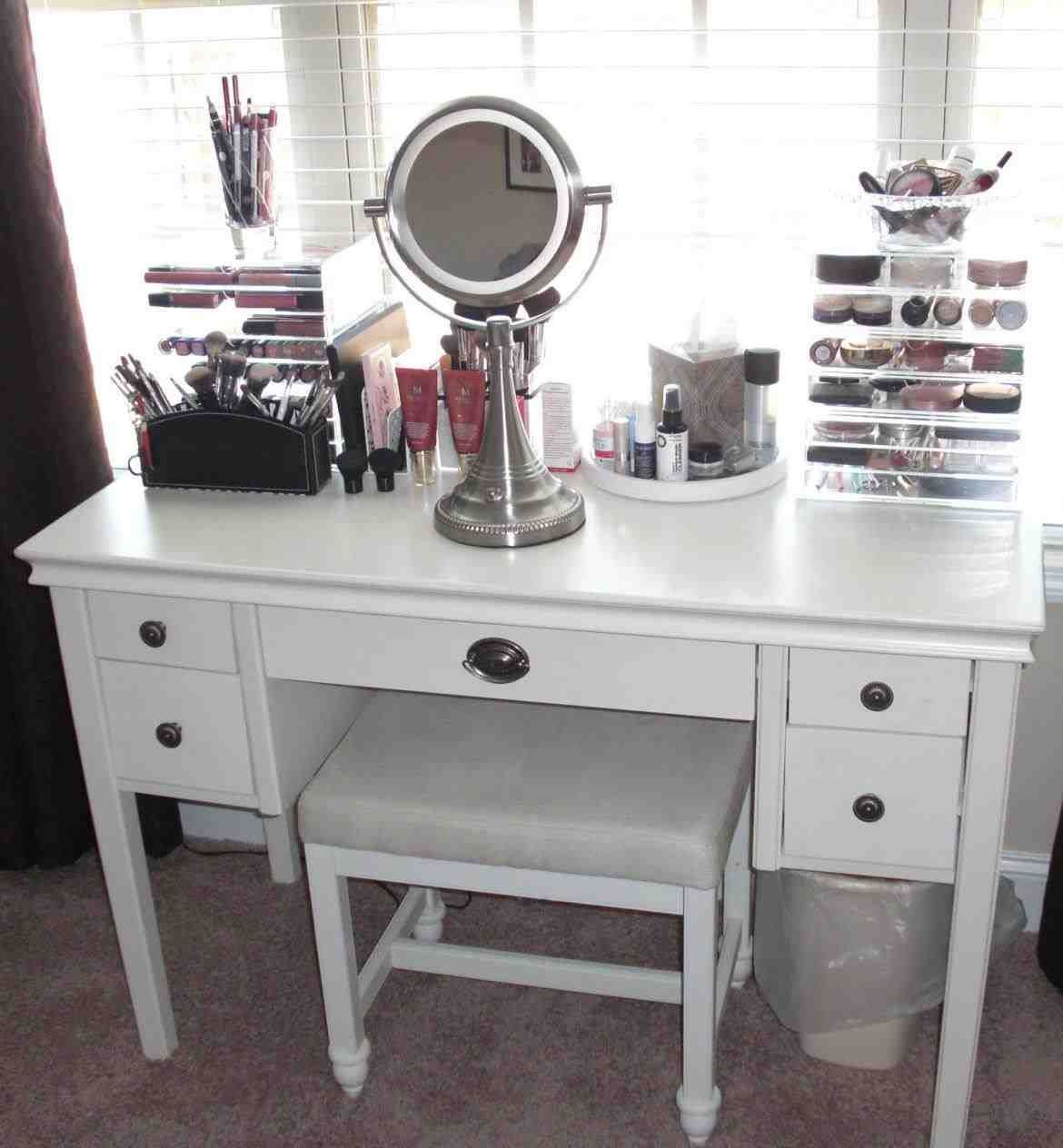 This vanity table organization ideas pier imports hayworth