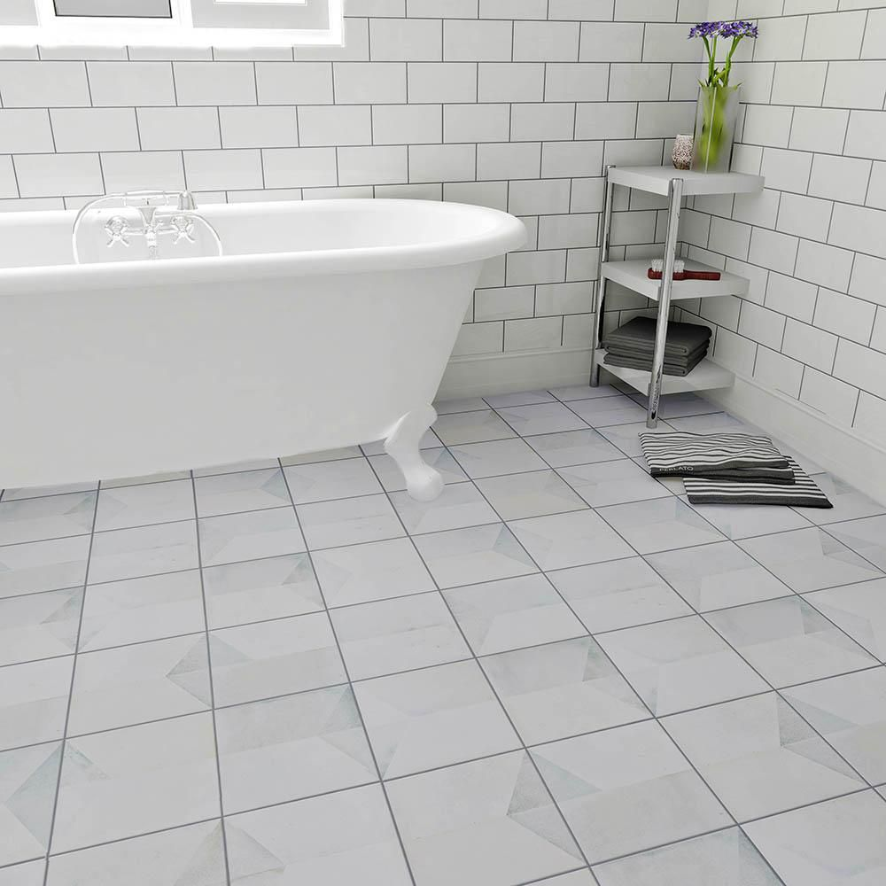 Merola Tile Geomento 17-5/8 in. x 17-5/8 in. Ceramic Floor and Wall ...
