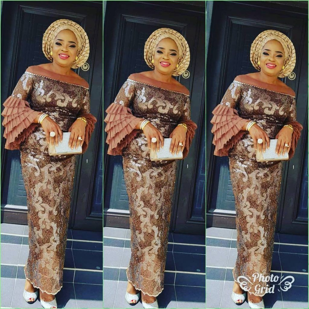 60 Trending Aso Ebi Styles We Saw This Weekend Nigerian Lace Styles Lace Fashion African Lace Dresses