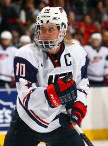 Meghan Duggan will captain the USA Women's Hockey Team into the 2014 Sochi Olympics- puck drops on Feb. 8 against Finland! Photo by Abelimages/Getty Images
