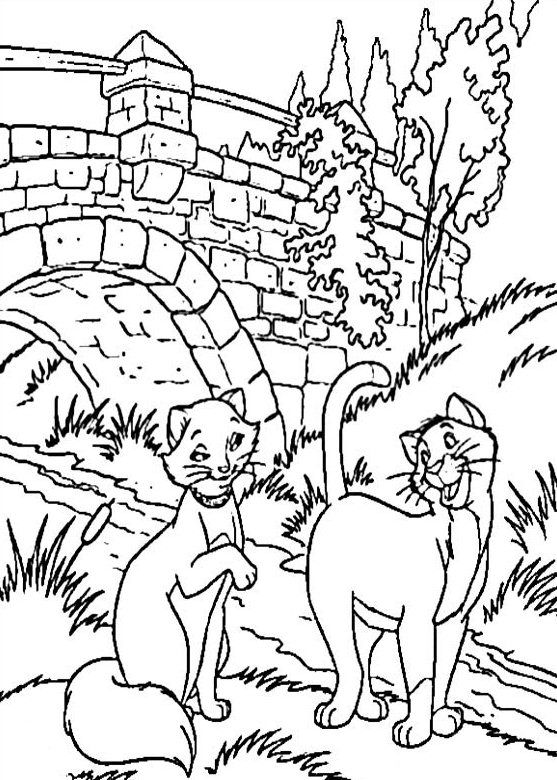 Aristocats coloring | Gatos manualidades | Pinterest | Los ...