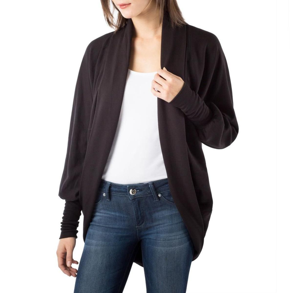 Womens Fleece Lined Open Front Cardigan Sweater | Products