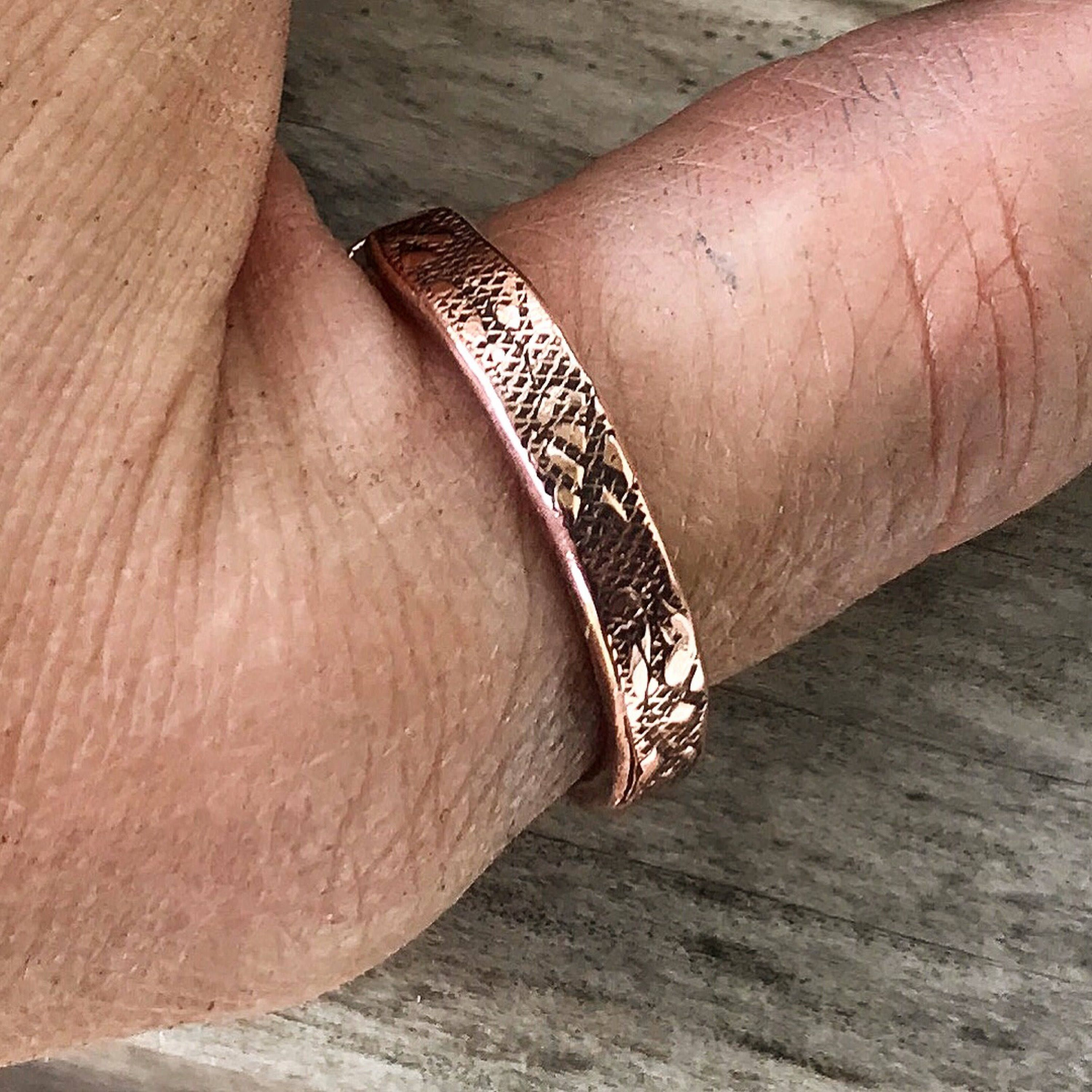 copper and thumb braclets rings Copper