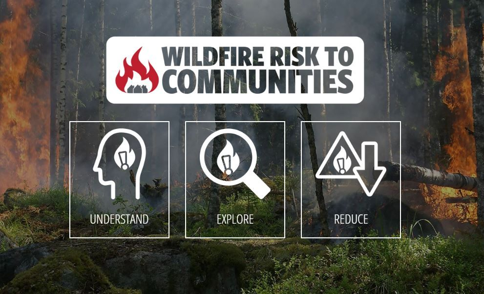 Wildfire Risk to Communities in 2020 Interactive map