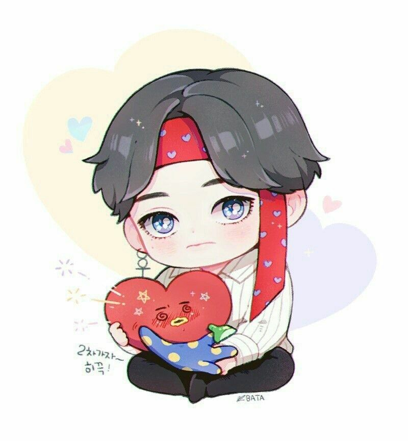 Pin By Auslee15 On Bts Bts Chibi Chibi Taehyung Fanart