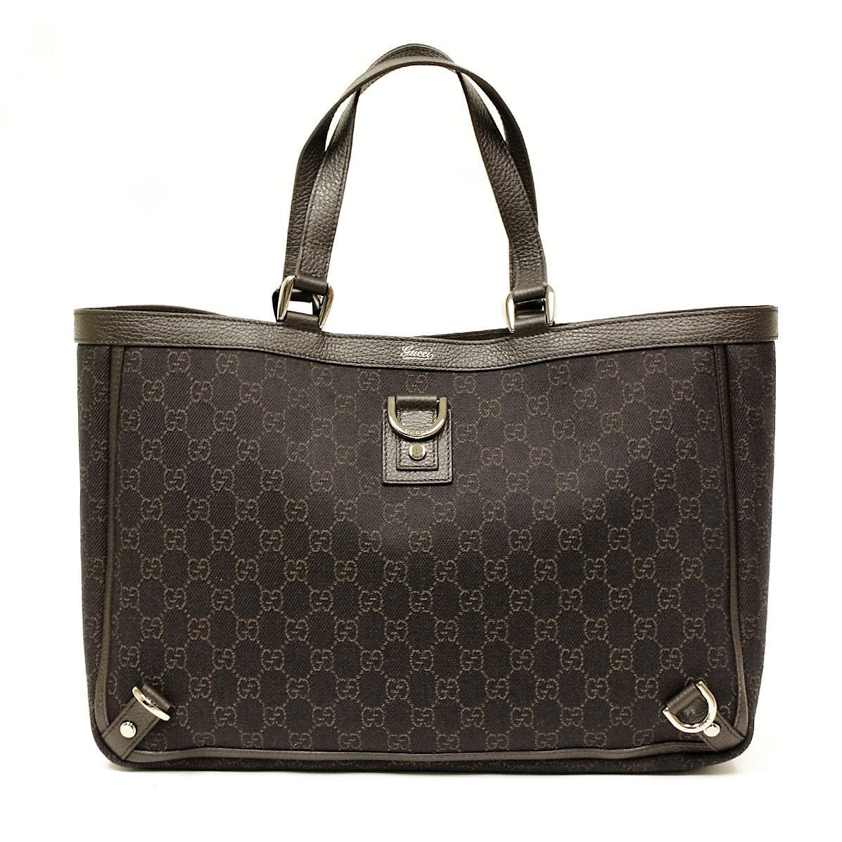 3c924c2ee2c6 Gucci Brown Denim Abbey D Ring Large Tote Bag   Products   Denim ...
