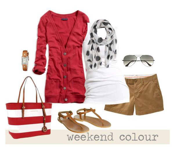 Relaxed Weekend Style in Red