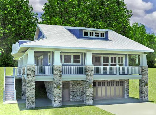 Plan 18277be Craftsman Home With Drive Under Garage Porch House Plans Craftsman House Plans Craftsman House
