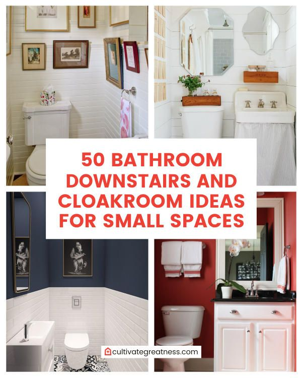Bathroom Downstairs And Cloakroom Ideas For Small Spaces