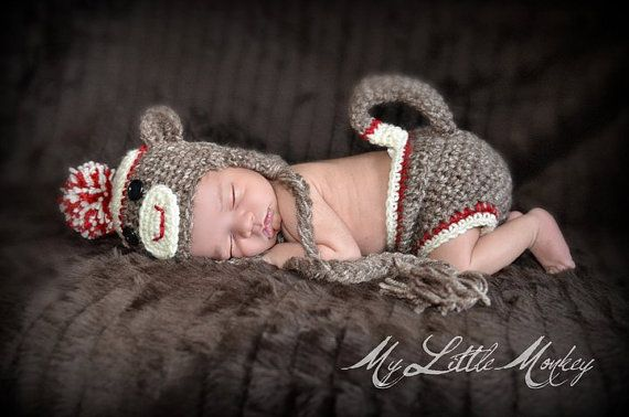 Newborn Sock Monkey!