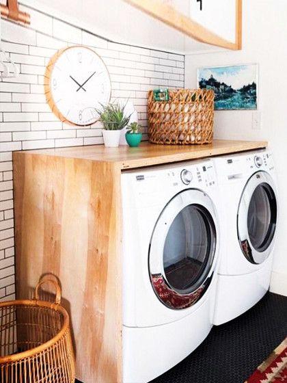 Holzverkleidung Waschmaschine durch eine coole holzverkleidung rücken die unschönen waschmaschinen