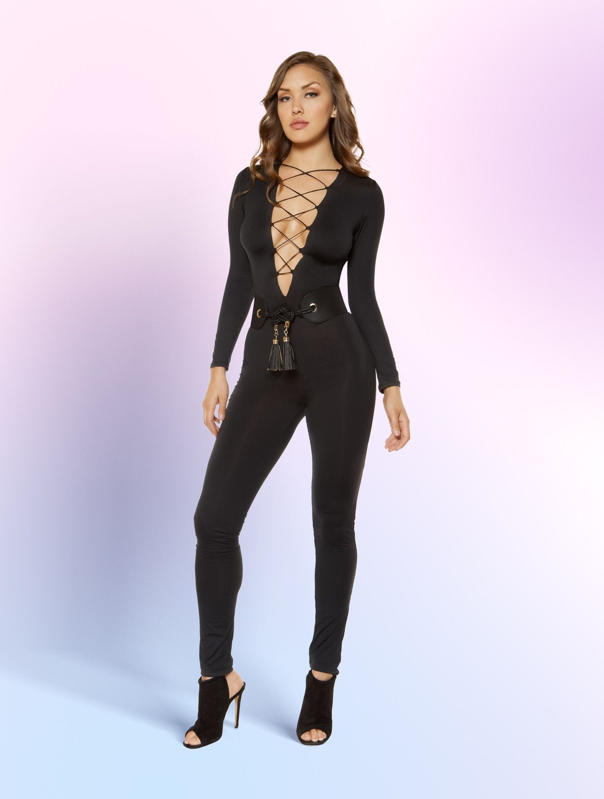 e7c763c289b Strappy Lace-up Jumpsuit