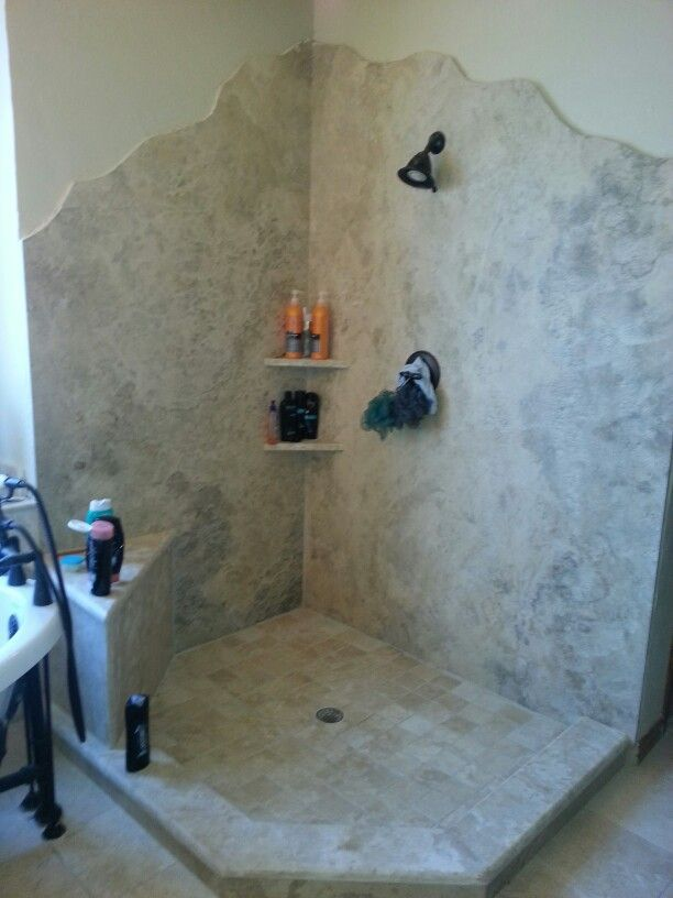 gluing granite to a bath wall for a shower - Google Search