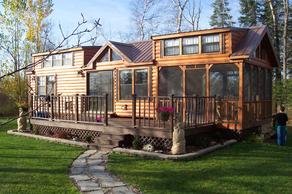 This is wonderful park model trailers midwest park for Small modular cabins and cottages