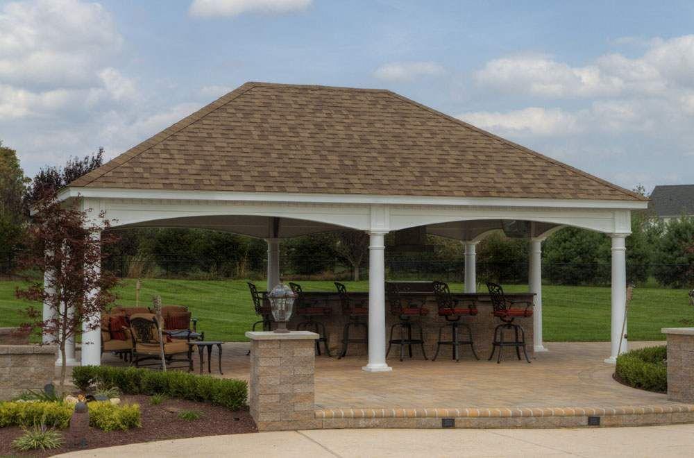 Hip Roof Pavillion Outdoor Pavilion Backyard Pavilion Gazebo