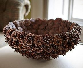 Photo of DIY Pinecone Baskets, Table Centerpiece Ideas for Thanksgiving and Christmas Decorating