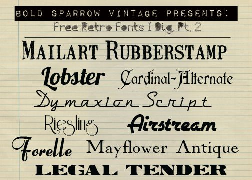 Bold Sparrow Vintage Vintage Fonts Free Retro Font Fancy Fonts