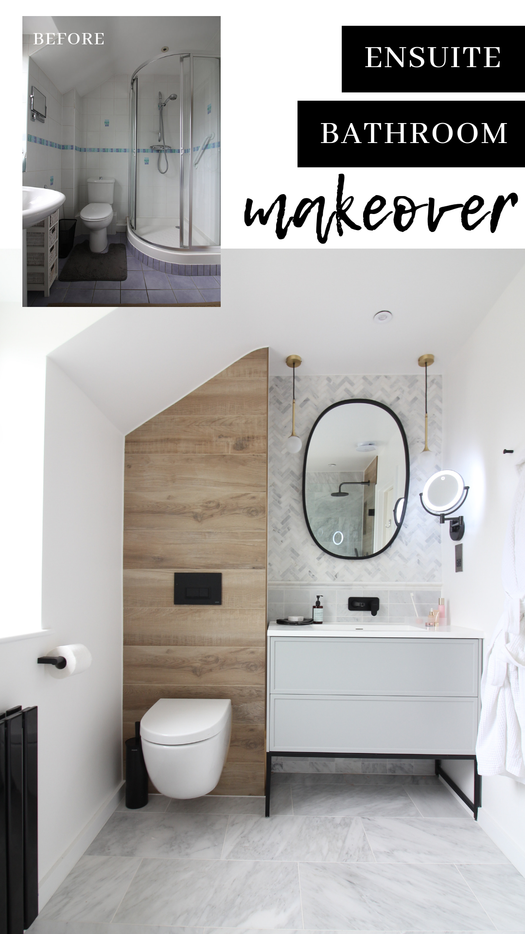 Small Bathroom Renovation Ideas This Ensuite Was Remodeled To A High Standard Using Marble Her Small Bathroom Renovations Bathroom Design Small Small Bathroom