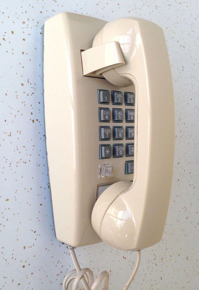 Fabulous Vintage Tan Cortelco Itt Wall Home Phone Push Button Download Free Architecture Designs Embacsunscenecom