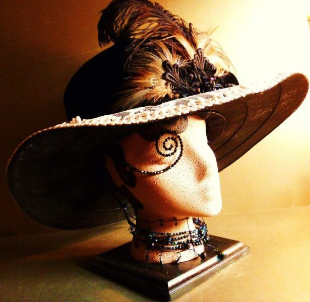 Edwardian Hat (Front View) by SHURIE SOUTHCOTT #millinery #hats #HatAcademy