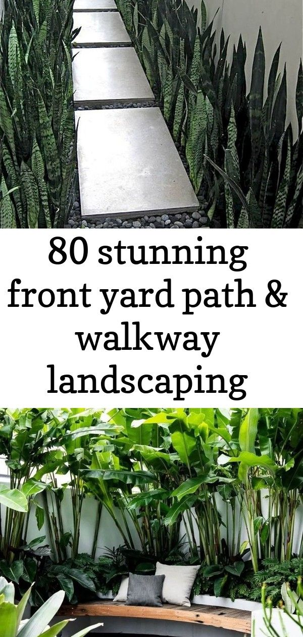 80 stunning front yard path & walkway landscaping ideas 1 #smallcourtyardgardens