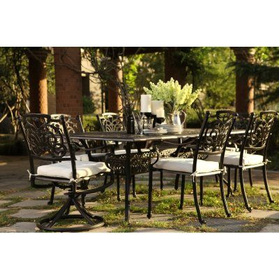 r palace cast aluminum outdoor dining set 7 pc for 2995