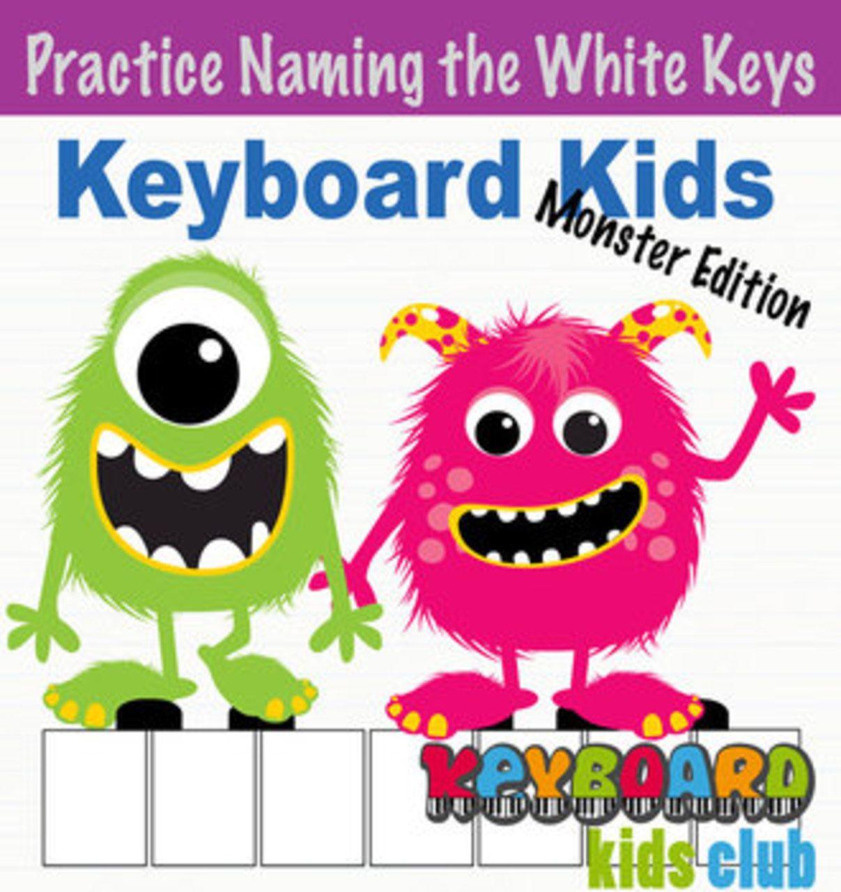 Keyboard Kids Monsters Printable Piano Key Naming