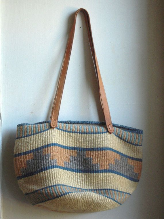 Woven southwest market tote