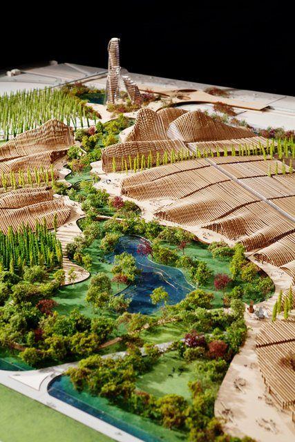 Veneto Green City Masterplan Land Design Firm Milano Italy Andreas Kipar And Mca Mario Cucinella Green City Architecture Model Green Architecture
