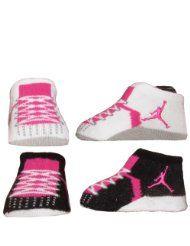 new style f4d09 8cc1f Nike Air Jordan Newborn Infant Baby Booties Socks Size 0-6 ...