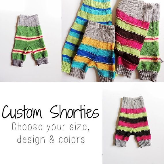 Custom Wool Shorties, Design Your Own Shorties - knit baby pants ...