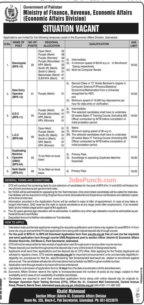 Ministry Of Finance Revenue Jobs Ots Jobs 2020 In 2020 Finance Jobs Clerical Jobs Economics