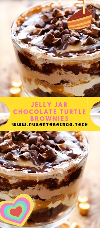 JELLY JAR CHOCOLATE TURTLE BROWNIES #turtlebrownies JELLY JAR CHOCOLATE TURTLE BROWNIES #turtlebrownies JELLY JAR CHOCOLATE TURTLE BROWNIES #turtlebrownies JELLY JAR CHOCOLATE TURTLE BROWNIES #turtlebrownies