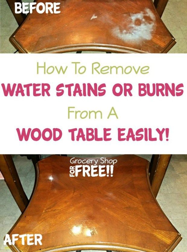How To Remove Water Stains Or Burns From A Wood Table Easily