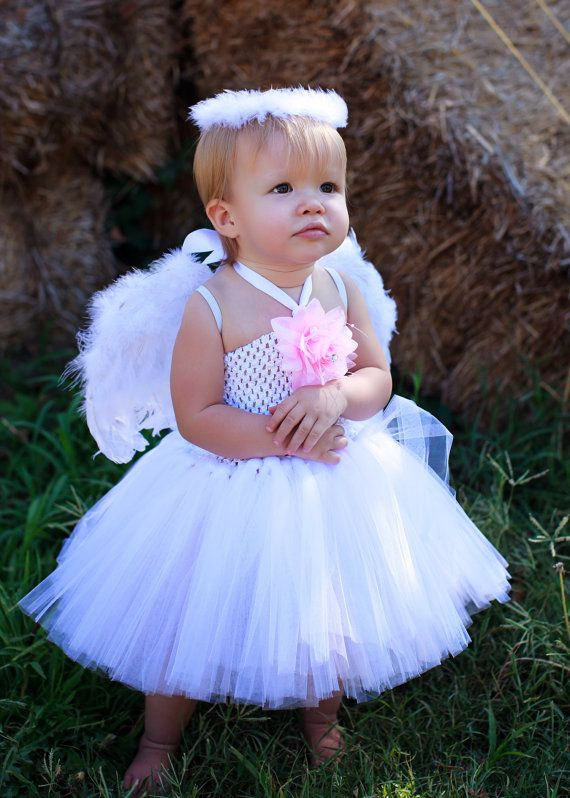 e7dda34352b7 Angel Tutu Dress w/ wings & halo | Tutu Mania | Baby halloween ...