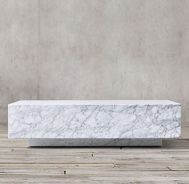 Marble Plinth Coffee Table Objects Pinterest