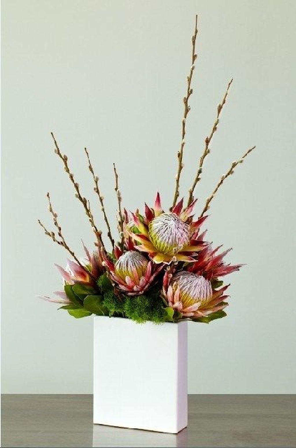 30 Beautiful Modern Flower Arrangements Design Ideas Tropical