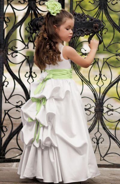 Girls All White Flower Girl Communion Dress Jordan L790 Size 10